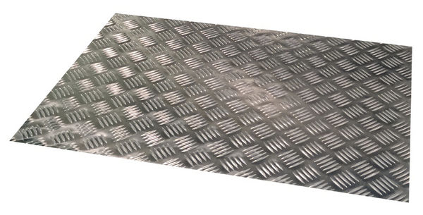 Aluminium tread plate, 5-bar pattern