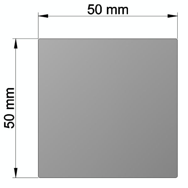 Aluminium square bar 50x50